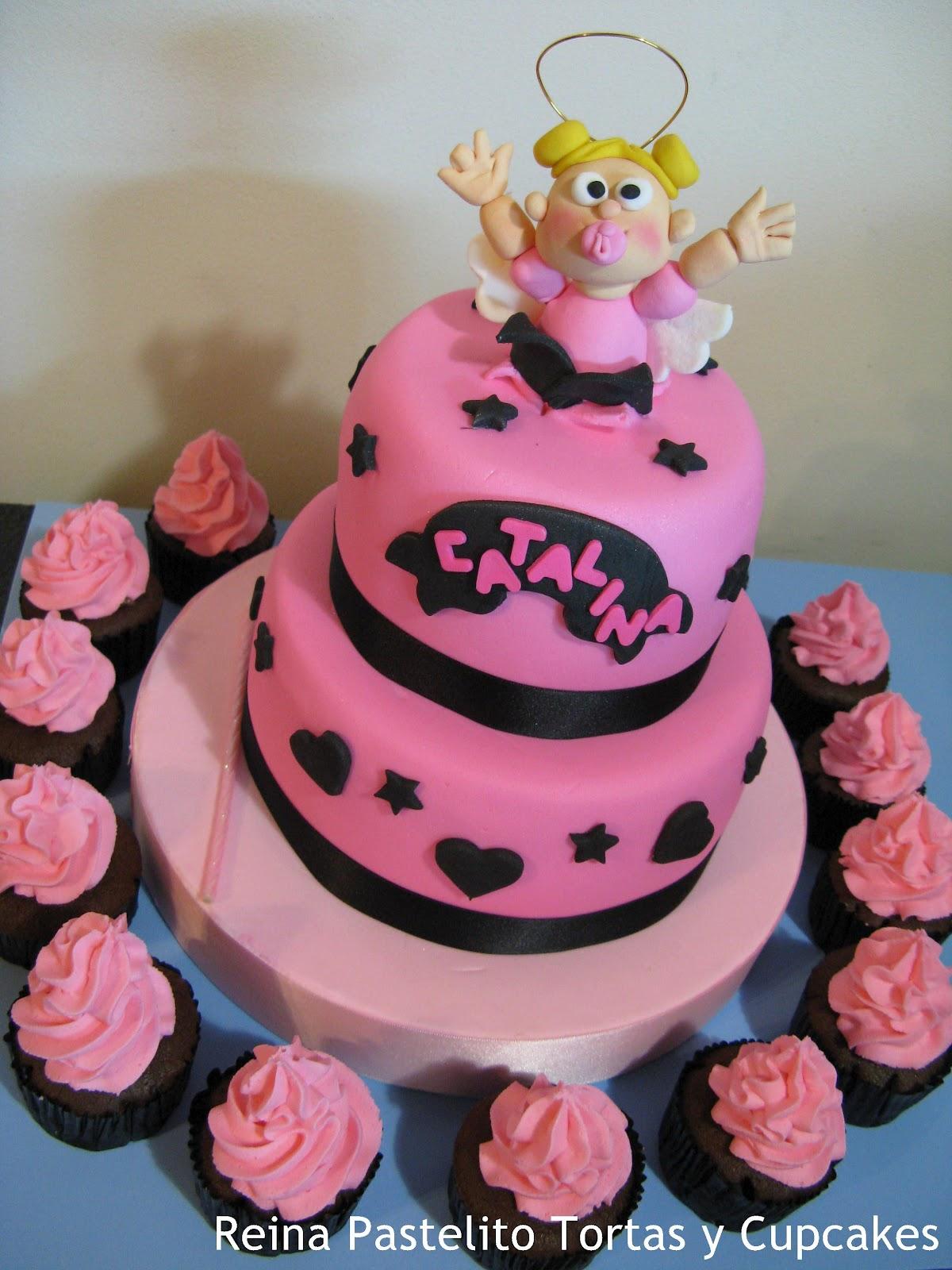 Reina Pastelito Cupcakes Tortas Torta De Bautismo Nena