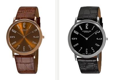 Reloj de cuero marrón o negro