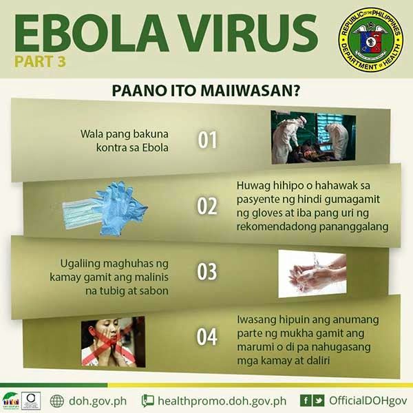 Ebola Virus how to get rid or avoid