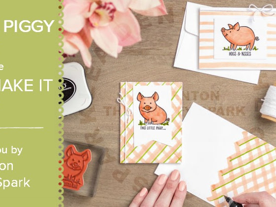 You Can Make It Monday - This Little Piggy Cards from Stampin' Up!