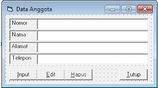 Form data anggota