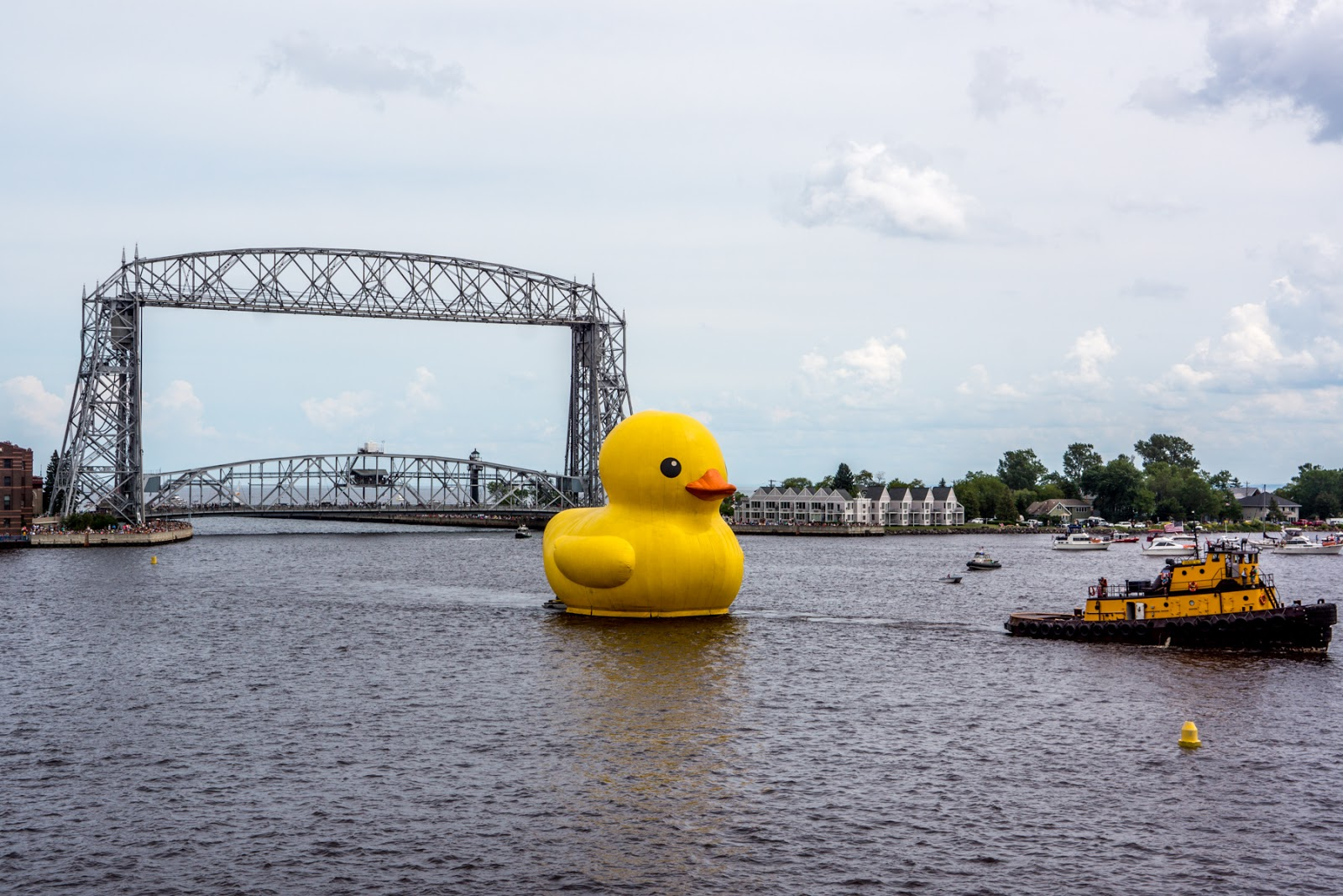 Duluth Harbor Cam: A Rubber Ducky made for a Big Lake!