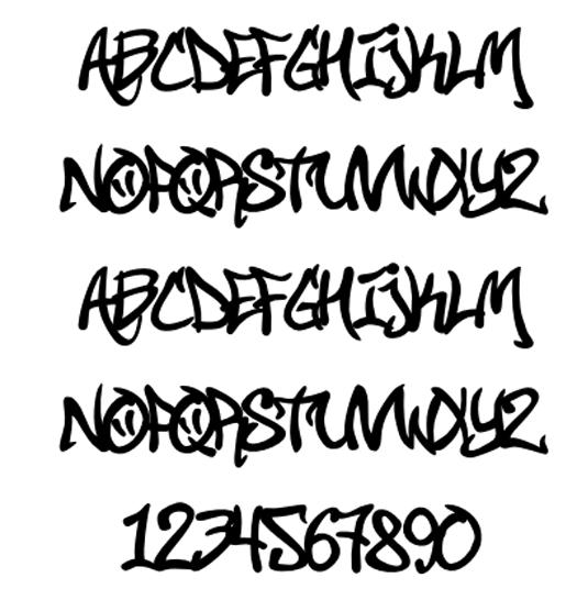 Cool Fonts For Tattoos Generator: 7 Graffiti Font Character