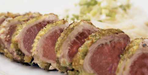 Fort Lauderdale Personal Chef - Spicy Wasabi Pea Crusted Tuna Recipe