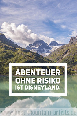 """Abenteuer ohne Risiko ist Disneyland."", Doug Coupland"