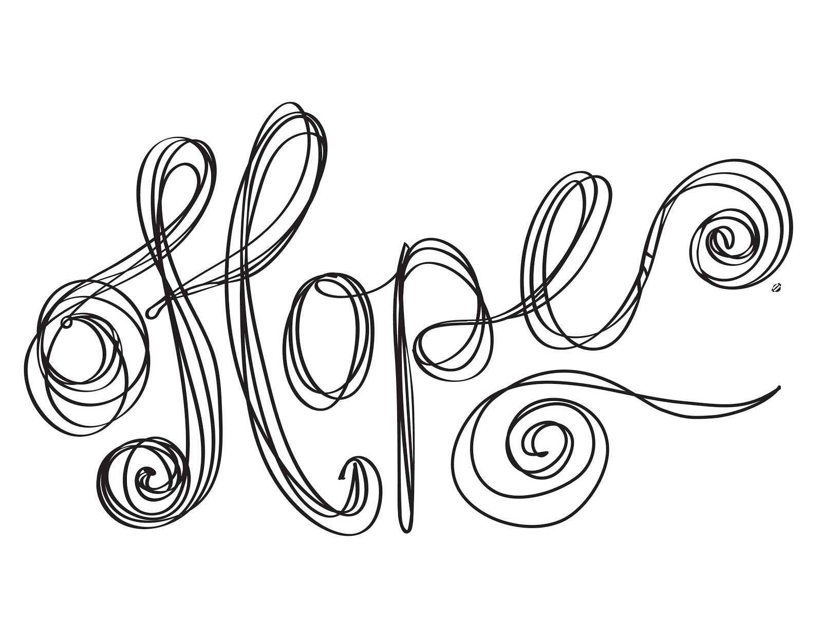 hope coloring pages - photo#9