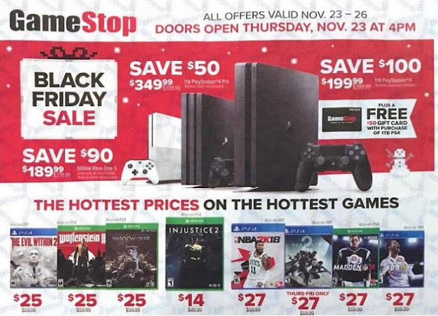 GameStop Black Friday 2017 Deals: PlayStation 4 Pro, Xbox One S, 'Free' Xbox 360, And More