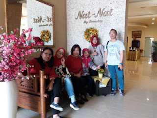 Rombongan Biro Kesekretariatan Pimpinan MA di Ruang Santai Nat-Nat Homestay