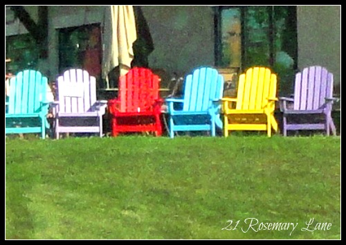 paint for adirondack chairs cosco high chair manual 21 rosemary lane my freshly painted