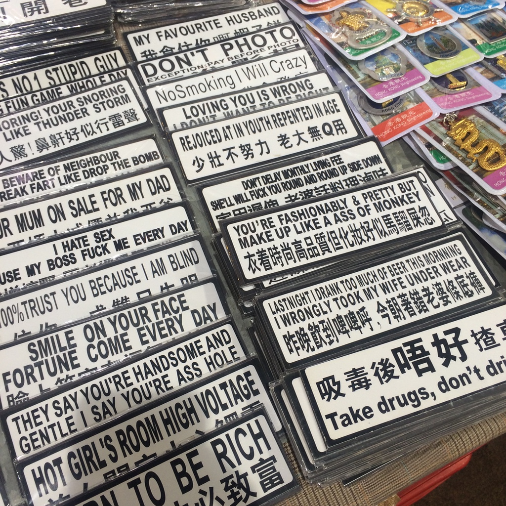 Funny magnets with Chinese to English translations