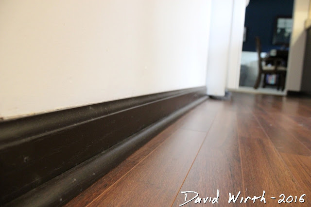 refinish baseboard, hardwood floor