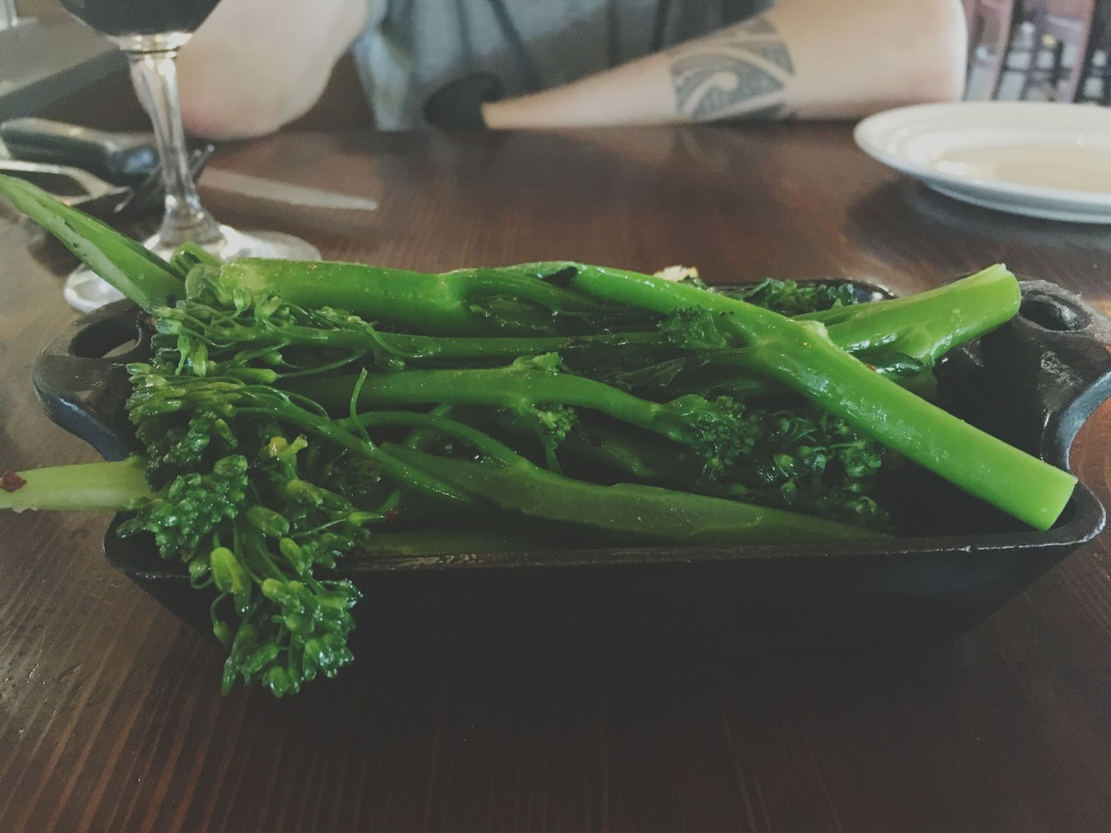 broccoli at the Farmstead Restaurant at Long Meadow Ranch in Napa, California