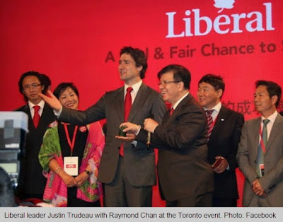 Justin Trudeau meeting Chinese