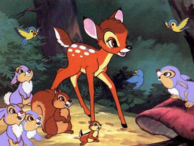 Bambi in the forest Bambi 1942 animatedfilmreviews.filminspector.com