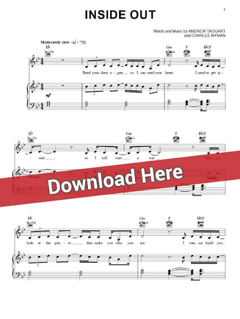the chainsmokers, inside out, sheet music, piano notes, chords, download, print, voice, vocals, guitar, tabs
