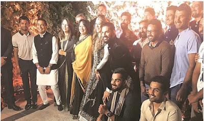 Indian Cricket team in Yuvraj wedding