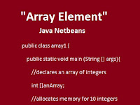 Contoh Program Java Netbeans Array Element
