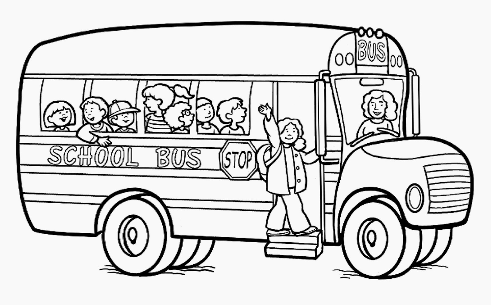 Transportation For Kids Coloring Pages Bus The Car