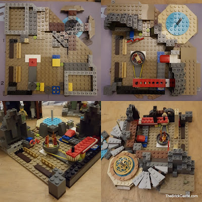 LEGO Ninjago Temple Of Airjitzu set 70751 base level build