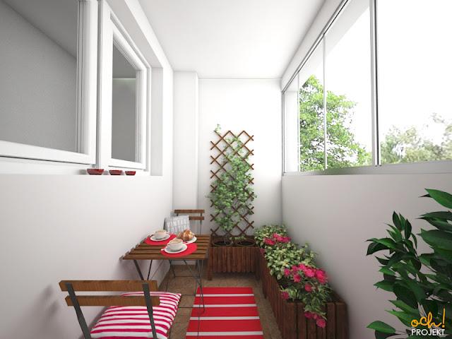aranżacja balkonu w bloku