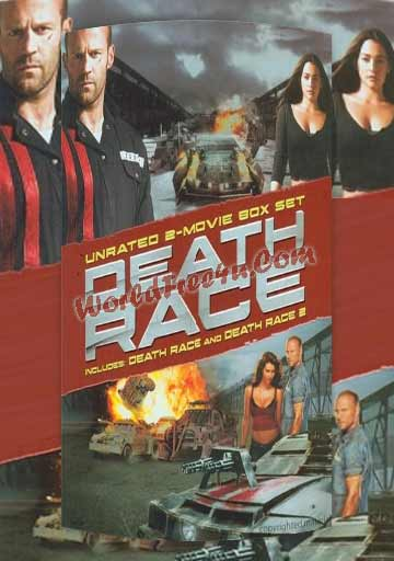 Poster Of Death Race Duology In Hindi English Dual Audio 300MB Compressed Small Size Pc movies Free Download Only At worldfree4u.com