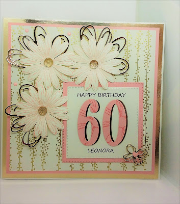 Paperjay crafts personalised 60th Card, daisy delight