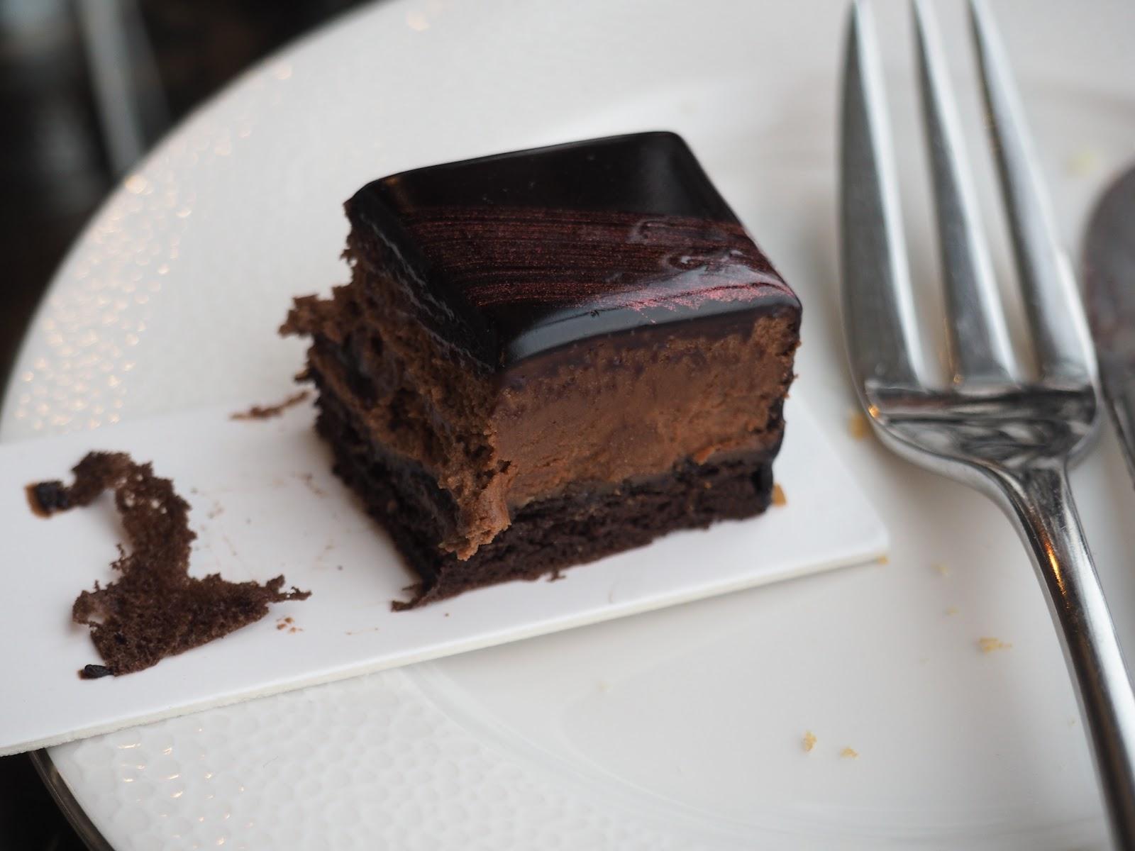 chocolate cake from Afternoon Tea at GONG Bar at the Shangri La at The Shard