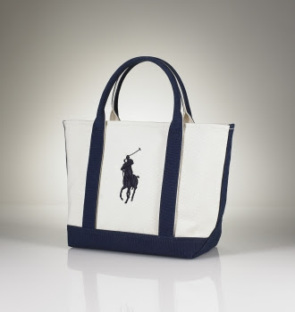 2961a1f180 Ralph Lauren Blue Label Small Canvas Tote