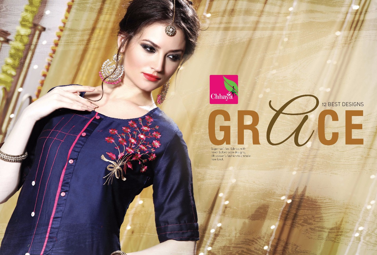 Grace-New Arrival Designer Gless Cotton Slub Kurti