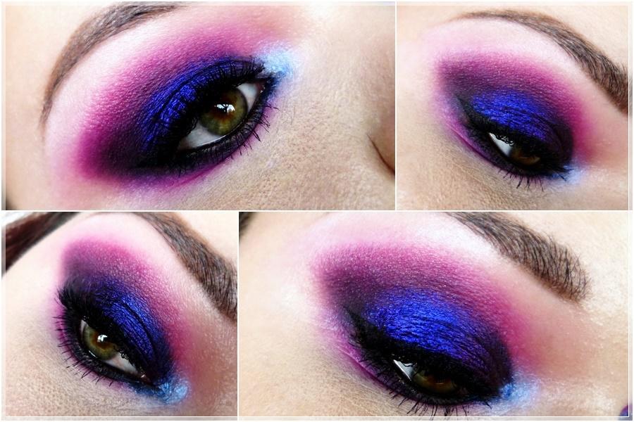dramatischer pink violetter augen makeup look