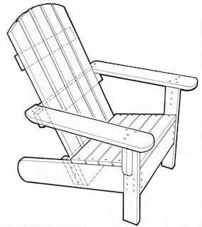 Project Working: Adirondack chair plans templates