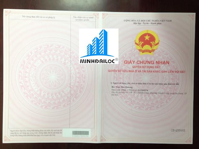 Sổ Đỏ chung cư mini của Minh Đại Lộc