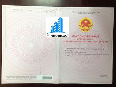 Sổ Hồng chung cư mini tách riêng từng căn hộ của Minh Đại Lộc
