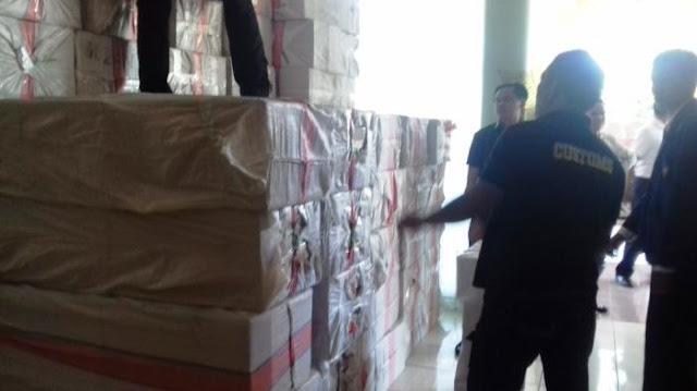 5 Juta Batang Rokok Ilegal Asal Surabaya Diamankan Bea Cukai Sulawesi