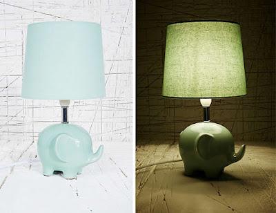 Diseño de lampara con forma de elefante.