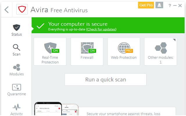 تحميل برنامج الحماية الشهير Avira Free Antivirus 2018  آخر إصدار