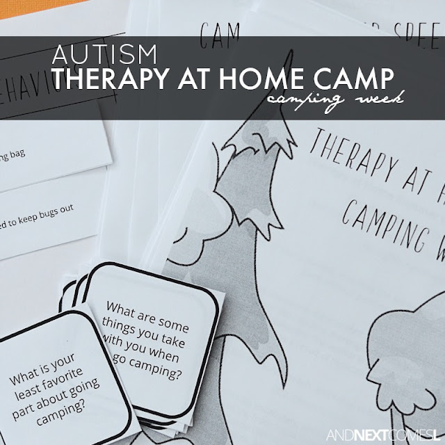 Autism therapy at home camp packs for kids from And Next Comes L