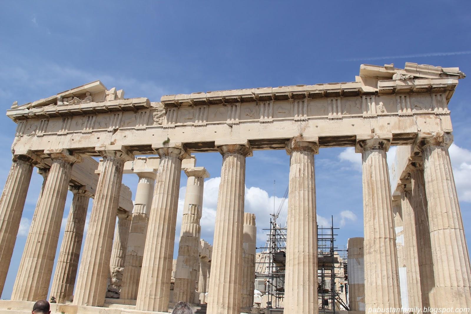 Family Travelogue Parthenon On The Acropolis In Athens