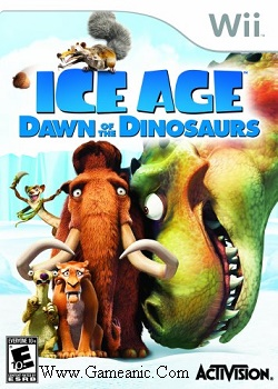 Ice Age 3 Dawn Of The Dinosaurs Game Cover