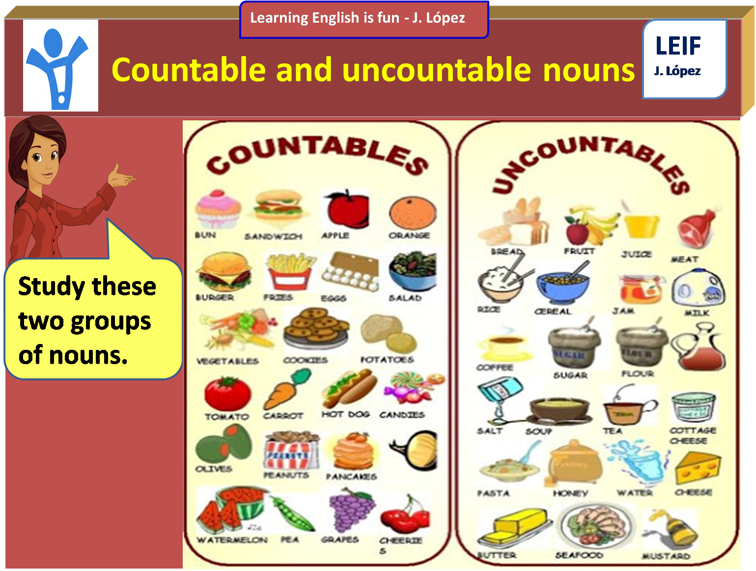 English Intermediate I U5 Countable And Uncountable Nouns