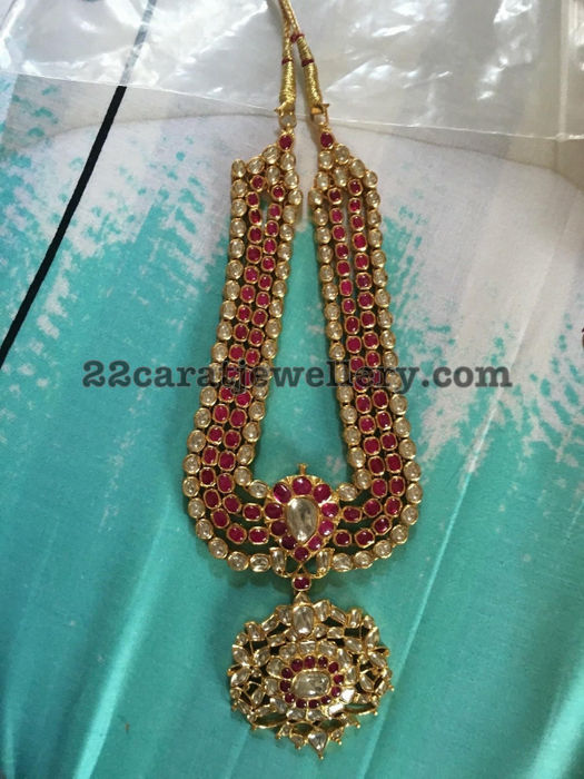 Ruby Polki Traditional Necklace
