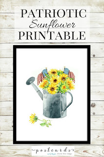 Patriotic Sunflower Printable