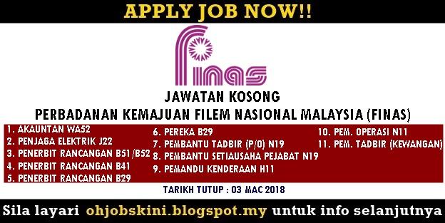 Jawatan Kosong Perbadanan Kemajuan Filem Nasional Malaysia (FINAS)