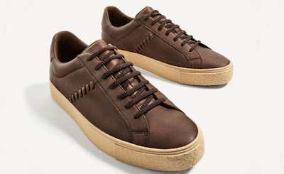 Brown Sneakers with Eyelets