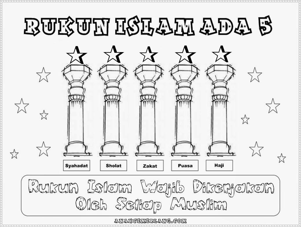 Gambar Mewarnai 5 Rukun Islam
