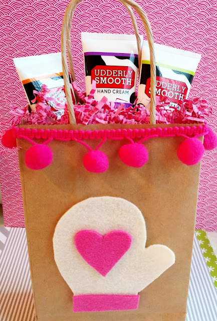 Lotion gift bag idea