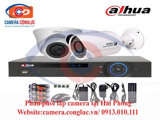 Trọn bộ camera Dahua do Camera Cộng Lực cung cấp và lắp đặt tại Hải Phòng