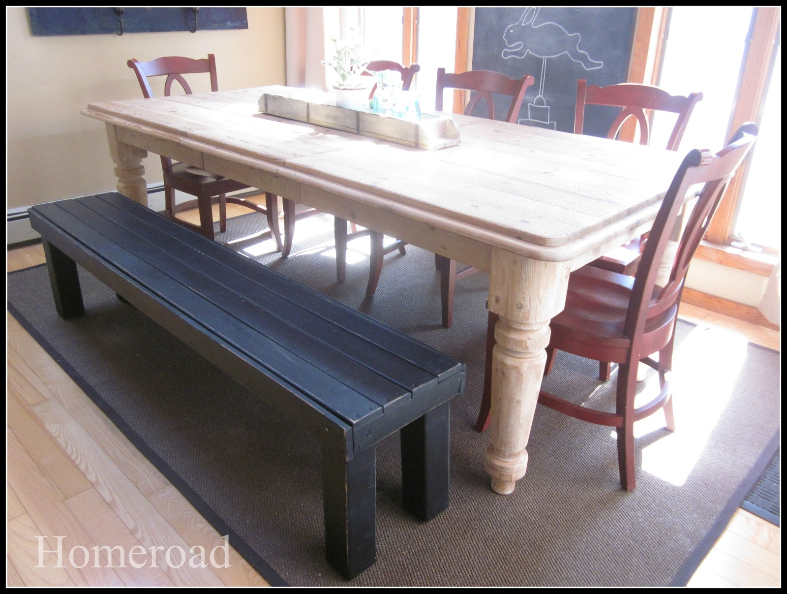 Homeroad DIY Farmhouse Bench
