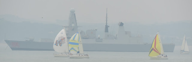 naval ship moored in solent