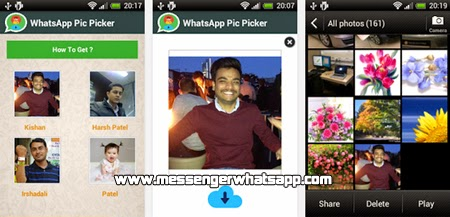 Guarda imagenes o fotos facilmente con WhatsApp Pic Picker